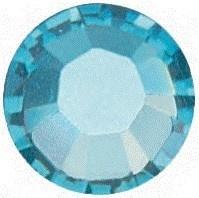 10 x Swarovski Aquamarine plat strass steentje 4mm