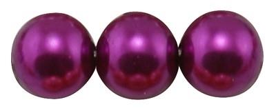 40 x prachtige glasparel kleur: Magenta 6mm
