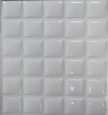 Per stuk transparante epoxy stickers vierkant 25 x 25mm