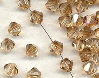 10 x Preciosa Kristal Bicone 6mm Clarite