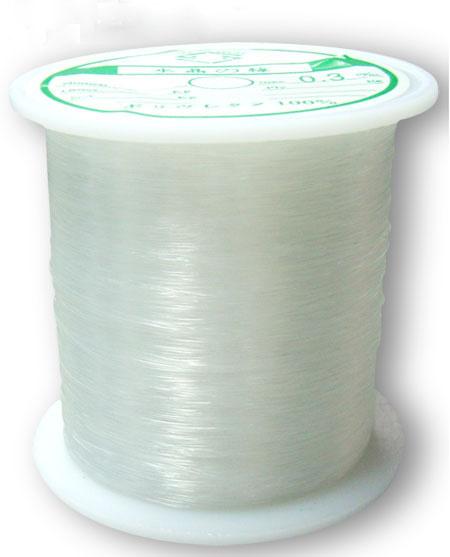 1 rol transparant nylon draad 0,3mm 130 meter per rol