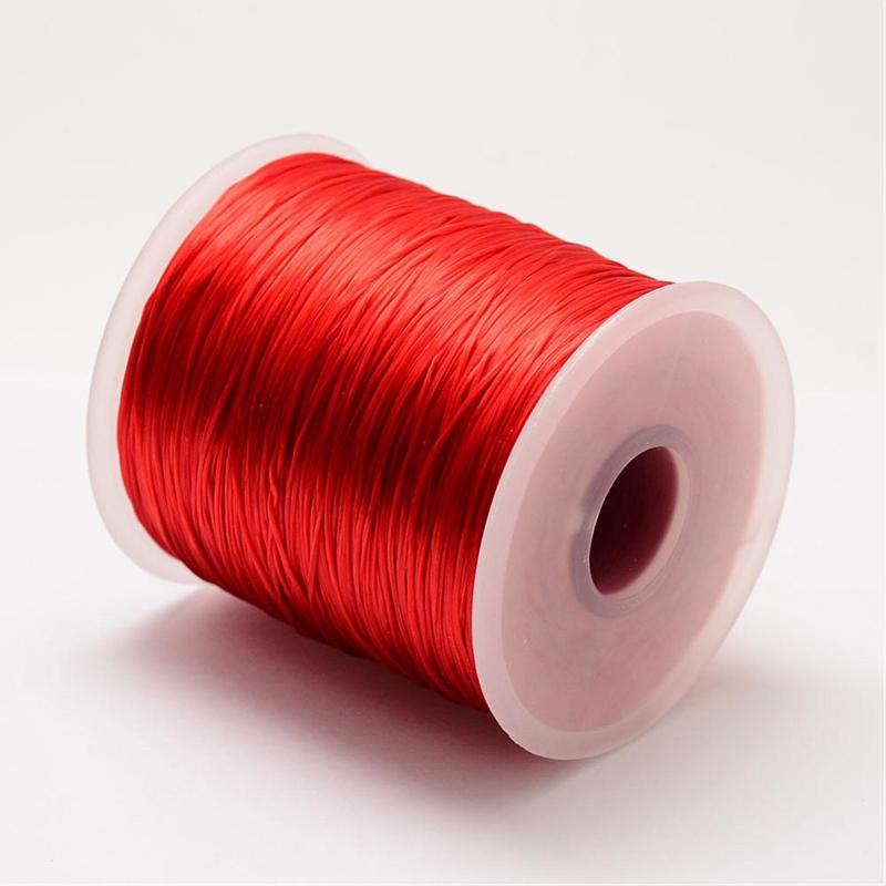 5 meter rond elastisch draad 0,2mm  rood