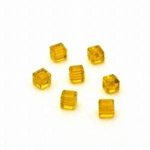 Preciosa Handgeslepen kristal kraal 4mm goud geel