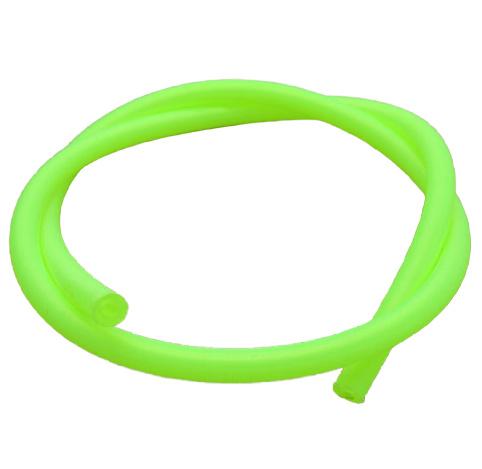 100 cm hol Rubber DQ koord 4mm per meter geknipt Fluor groen