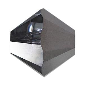 30 x Preciosa Kristal Bicone kraal 4 mm grey blue AB