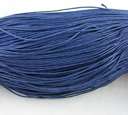 Waxkoord 10 meter 1mm donker blauw structuur A