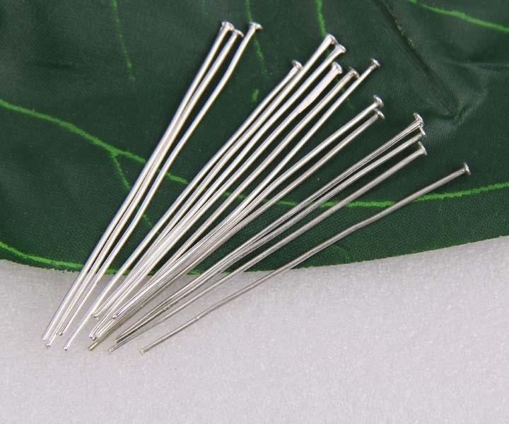 100 stuks verzilverde nietstiften 20mm