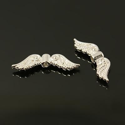 10 stuks tibetaans zilveren engelen vleugels 23mm verzilverd