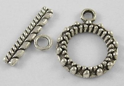 4 x tibetaans zilveren slotje afmeting ring 15 x 20mm staafje: 3 x 18mm gat: 8mm