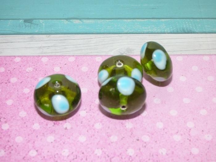 5 x High Quality Glass Hand Made Bead 067  afm. ca. 11 x 18mm