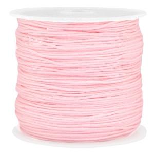 Rol met 90 meter Macramé satijndraad 0.8mm  Light pink (kies voor pakketpost)