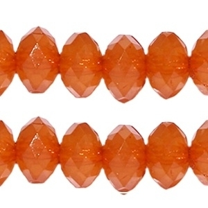 20 stuks acryl facet kralen disc 8 x 6 mm Mandarin orange opaal