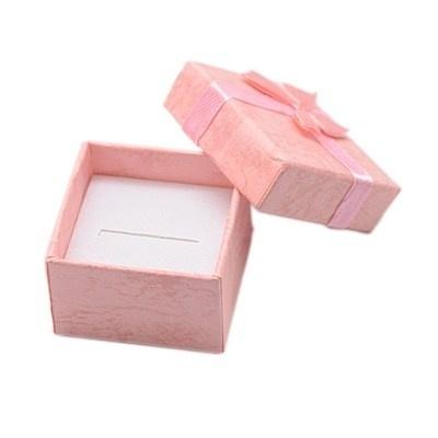 5 luxe cadeaudoosjes voor bijvoorbeeld ringen 41 x 41 x 26mm mix kleuren  assortiment