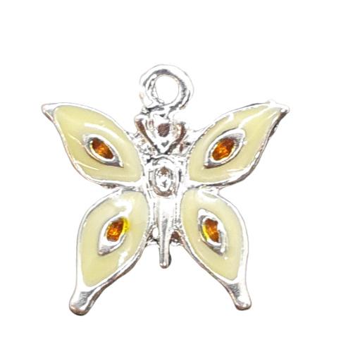 2 x  emaille epoxy bedel van een vlinder 18mm oogje: 1,6mm
