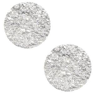 7 mm platte cabochon Polaris Elements Goldstein White