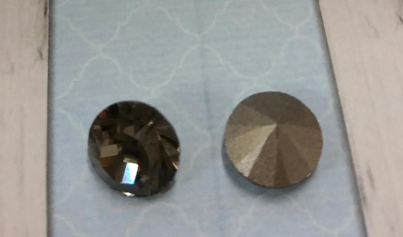 5 x  Puntsteen preciosa SS39 setting 8x6 mm Donker grijs