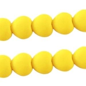 10 stuks Acryl kralen hart 10mm Warm geel