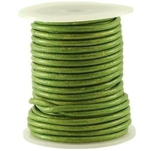20 cm VETER DQ Leer rond 3 mm Fern green metallic