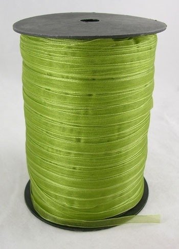 1 meter organza lint 6mm apple green