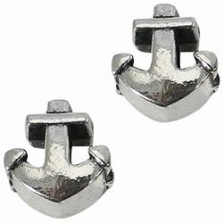 Per stuk European Jewelry kraal metaal Anker antiek zilver 13 mm