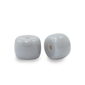 20 x rondellen glaskralen Grey  6mm