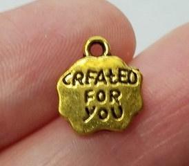 10 keer tibetaans zilveren bedeltje created for you 12 x 10 x 2mm oogje: 1mm goudkleur