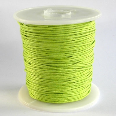 10 meter waxkoord 1,5mm dik kleur:  light green