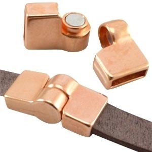 DQ metaal magneetslot scharnier  Ø plat 10mm Rosé goud (nikkelvrij)