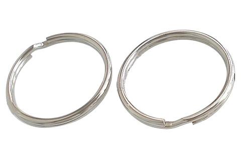 5 x Sleutelhanger ring RVS Ø 25 x 1,5 mm