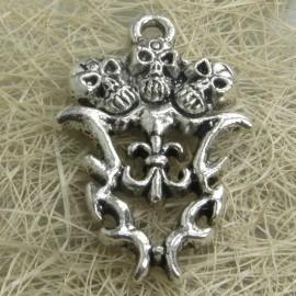 2 x Tibetaans zilveren bedel / hanger 28mm