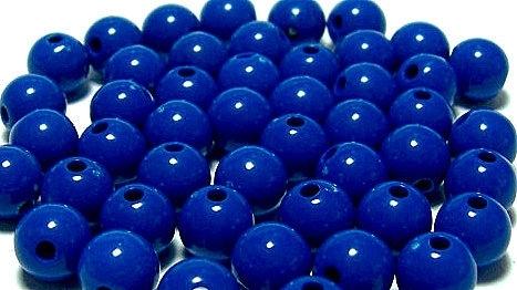 10 Stuks Acrylkralen donker blauw 1, 12 mm , gat 2,5 mm
