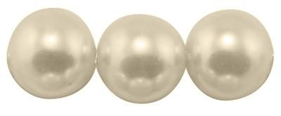 40 x prachtige glasparel kleur: Ivory 6mm