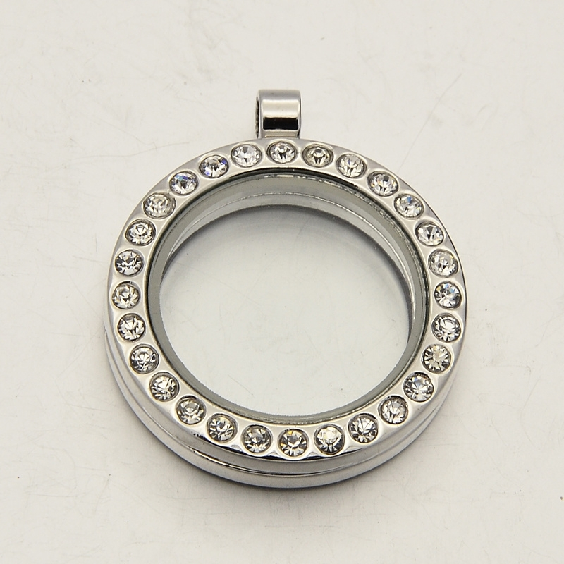 Floating Charms & Memory Locket RVS compleet zonder ketting