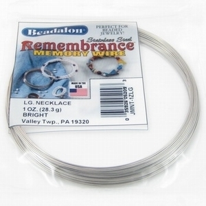 Per Pak Beadalon Memory wire necklace Z (9 wendingen)