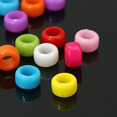 20 stuks Jelly style siliconen kralen mix 8 x 5,5mm gat: 5mm  assortiment