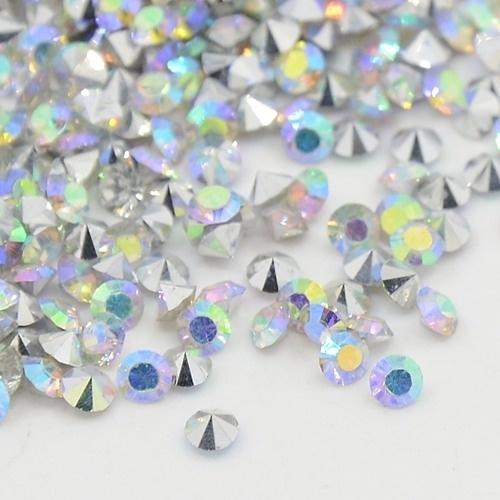 15 stuks Puntsteen Resin kunsthars SS12 c.a. 3,5mm Crystal AB