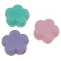 15 stuks Jelly style siliconen kralen mix 9 x 4 mm gat: 1,5 mm bloem  kralen  assortiment