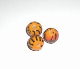 10 x Glaskraal rond 11mm oranje