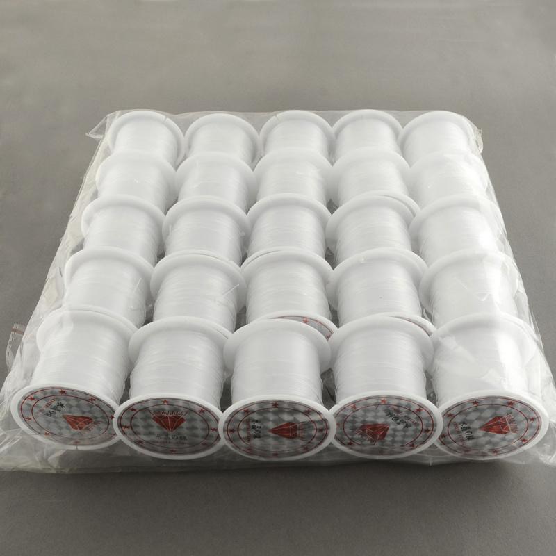 1 rol transparant nylon draad 1mm 5 meter per rol (Kies voor pakketpost)