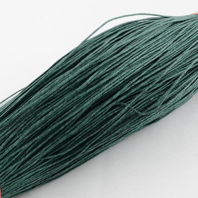 Waxkoord 10 meter 1mm dark green