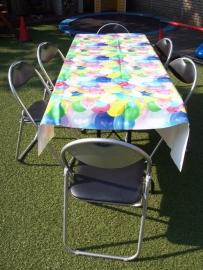 tafelkleed met ballonnen voor over de tafel