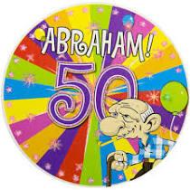 grote button Abraham met led verlichting