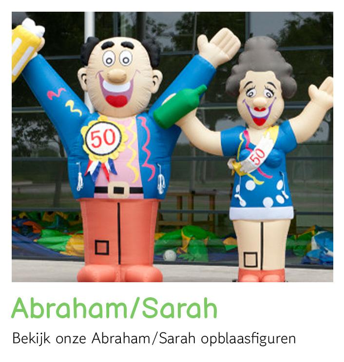 Abraham pop huren, Sarah pop huren, opblaasfiguren huren   FeestVerhuurWijchen