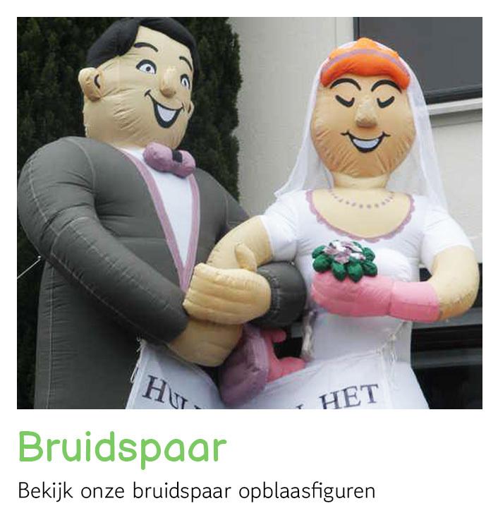 Opblaasfiguren bruidspaar huren   FeestVerhuurWijchen