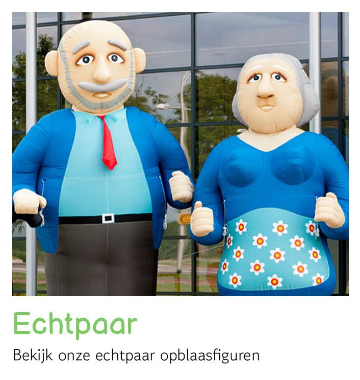 Opblaasfiguren echtpaar huren   FeestVerhuurWijchen
