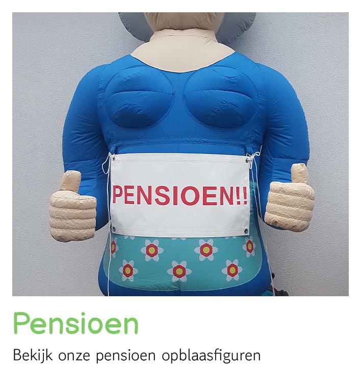 Opblaasfiguren pensioen huren   FeestVerhuurWijchen