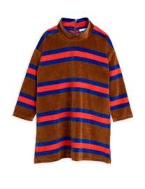MINI RODINI / Velour stripe dress