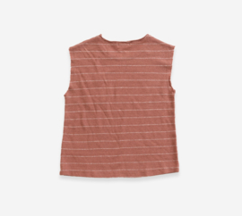 PLAY-UP / Striped Jersey Sleeveless T-shirt