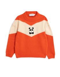 MINI RODINI / Panda knitted wool sweater
