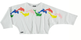 YPORQUE / Dolphins tubular sweat